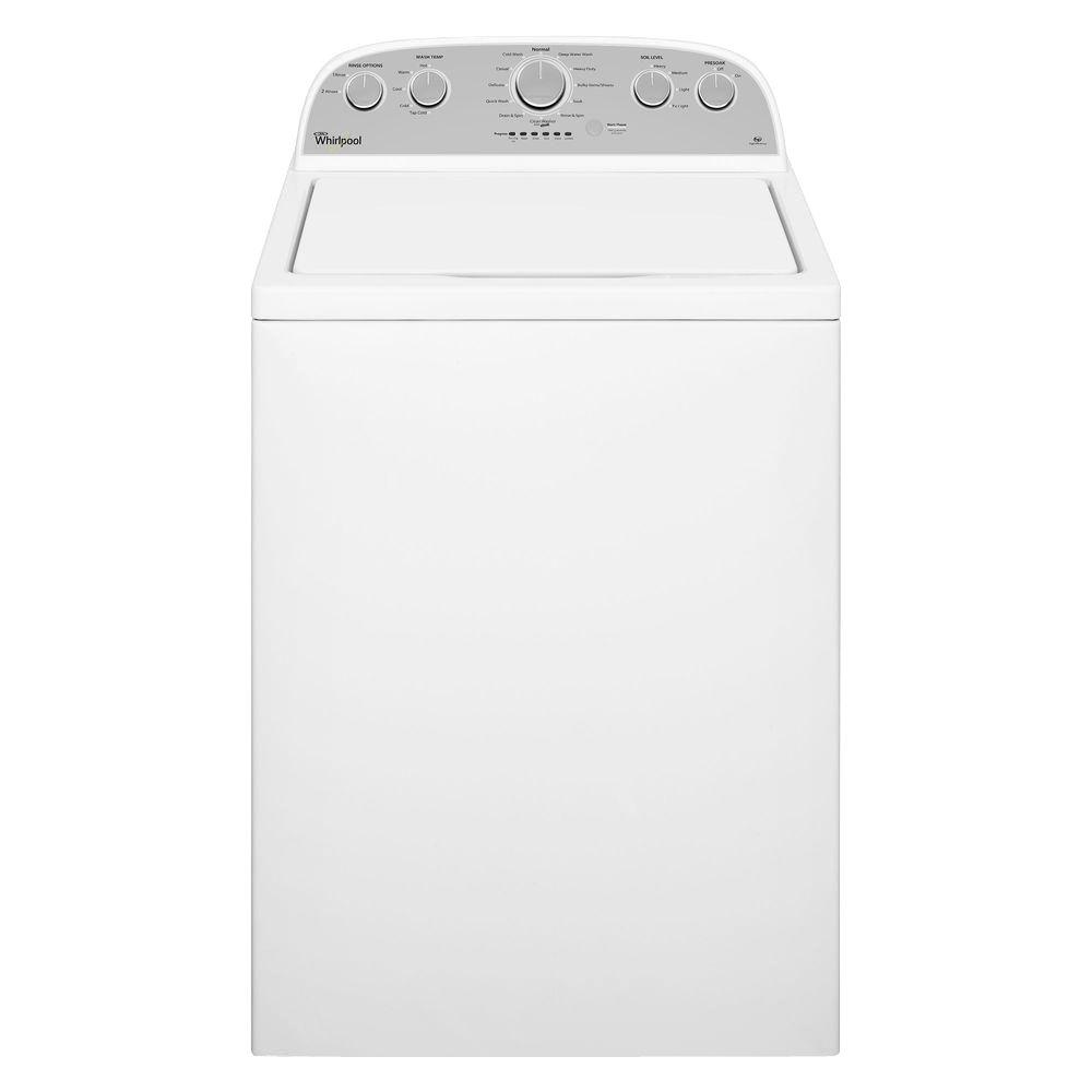 Whirlpool 3.7 cu. ft. High-Efficiency Top Load Washer in White