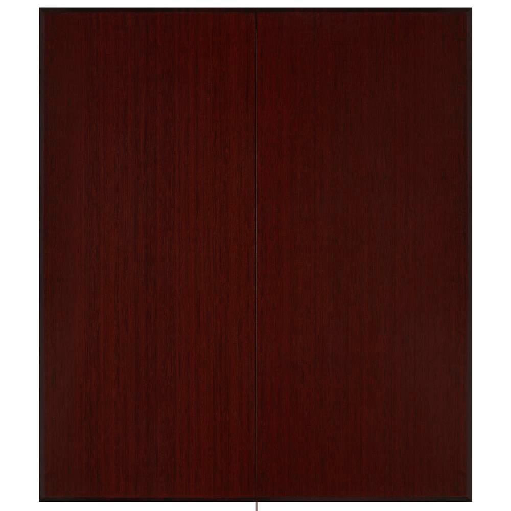 Dark Cherry 42 in. x 48 in. Bamboo Tri-Fold Plush Chair