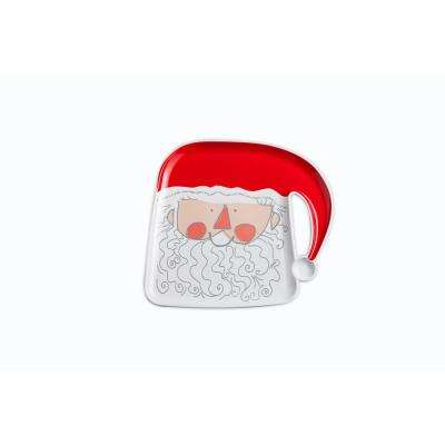 Santa and Friends Red/White Santa Plate