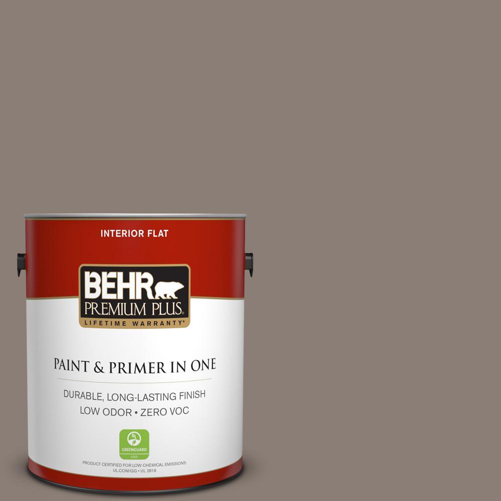 1 gal. #HDC-NT-27B Wild Truffle Zero VOC Flat Interior Paint
