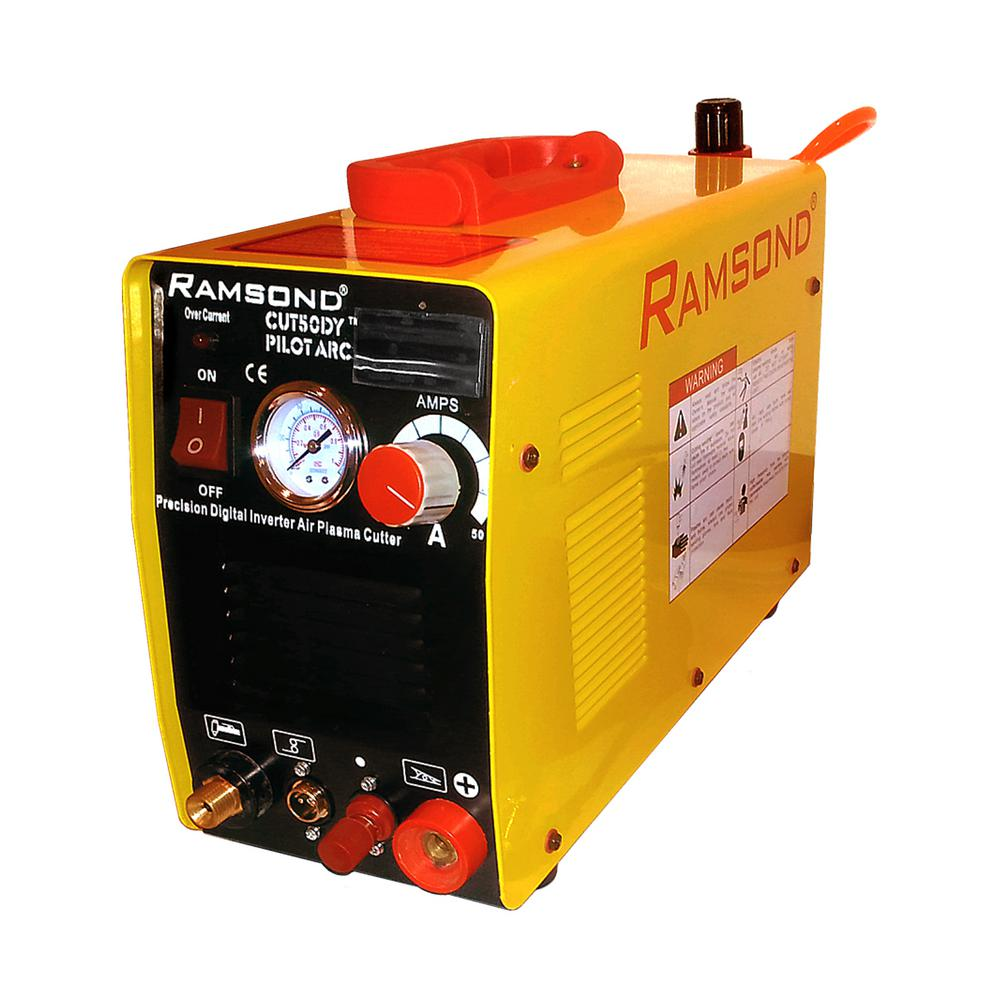 Ramsond 50 Amp Pilot Arc Dual Voltage Digital Inverter Plasma Cutter