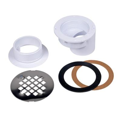 Oatey Oatey Pvc Offset Shower Drain With Round 4 1 4 In Stainless