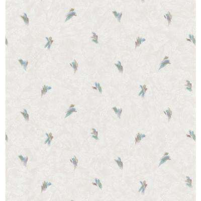 Kitchen and Bath Resource II Neutral Small Brushstroke Toss Wallpaper Sample