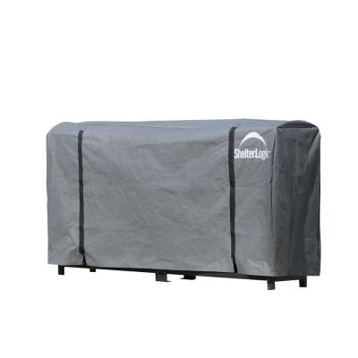 8 ft. W x 3 ft. H x 1 ft. D Universal Full-Length Firewood Rack Cover with 2-Zipper Closure and Anti-Fungal Properties
