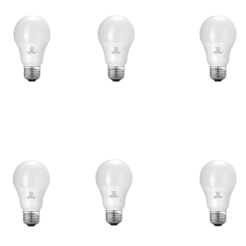 60W Equivalent Soft White (3000K) A19 LED Light Bulb (6-Pack)