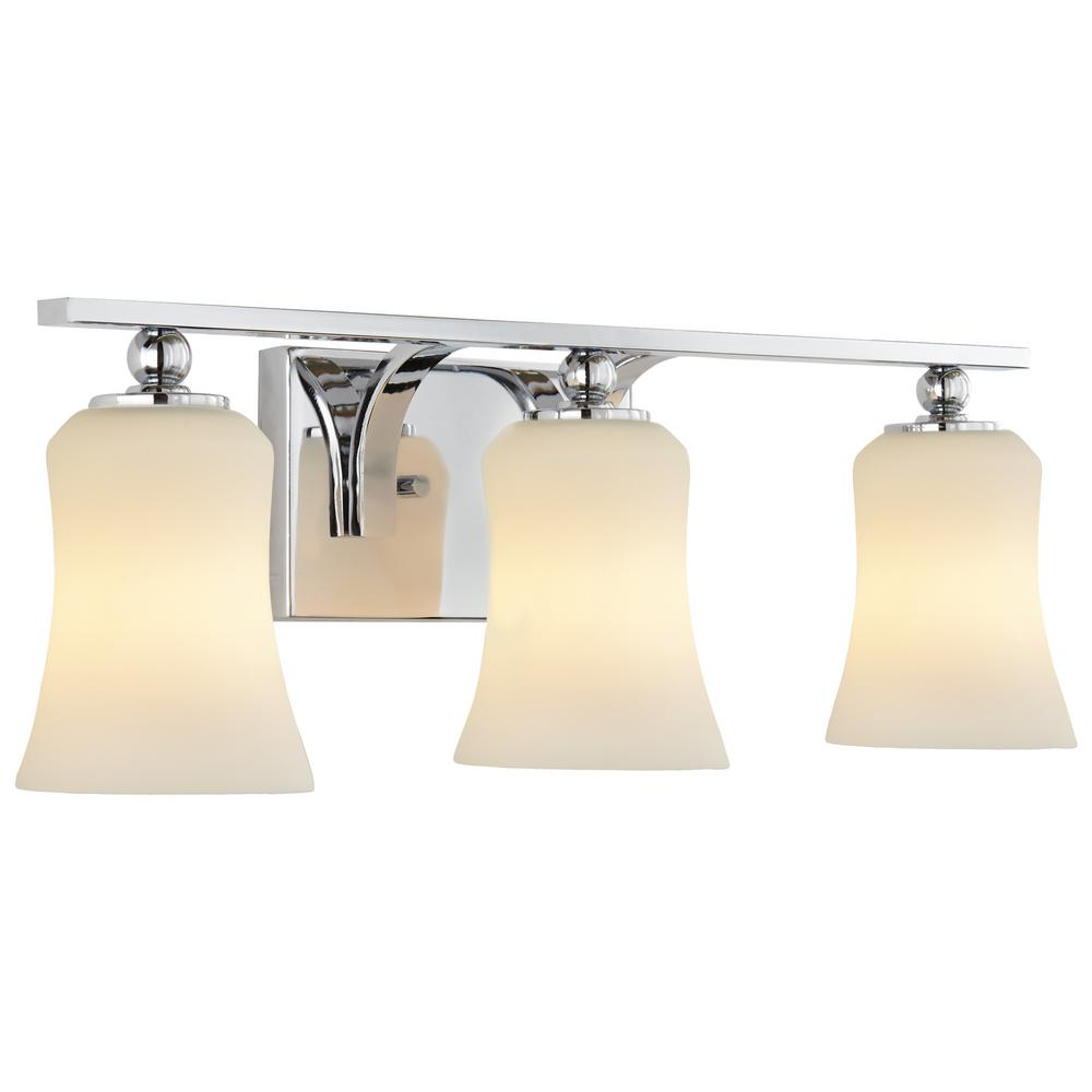 white bathroom lighting home decorators collection 3 light chrome square bath 15078