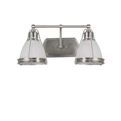 Landry 2-Light Satin Nickel Bath Light