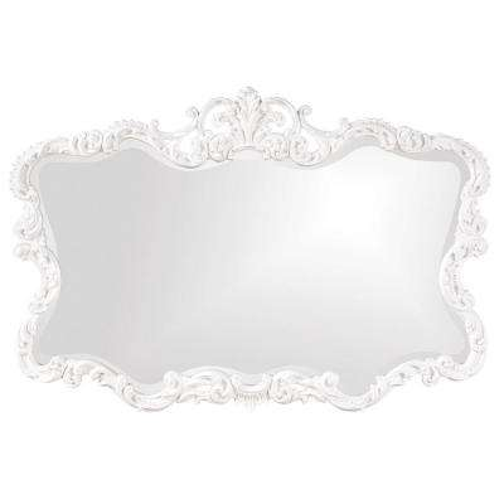 27 in. x 38 in. Vanity Glossy White Framed Mirror