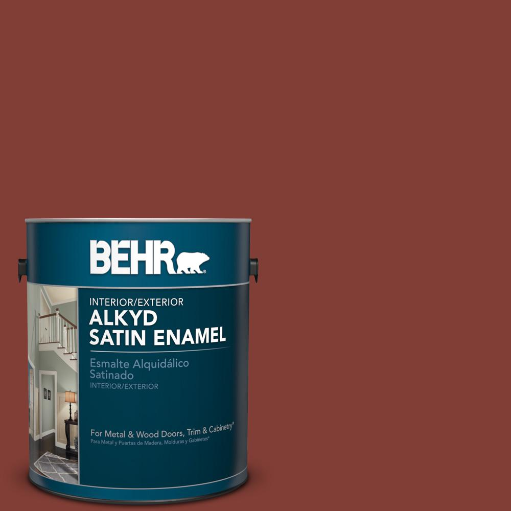 1 gal. #S160-7 Red Chipotle Satin Enamel Alkyd Interior/Exterior Paint