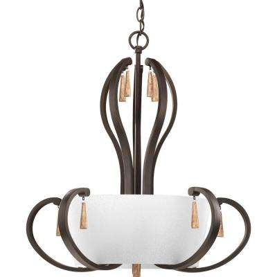 Club Collection 5-Light Antique Bronze Foyer Pendant