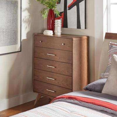 Holbrook 5-Drawer Chestnut Chest