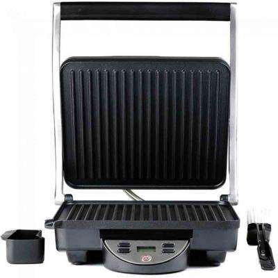 GP1000BR Digital Electric 4-Slice Non-Stick Nickel Brushed Panini Press