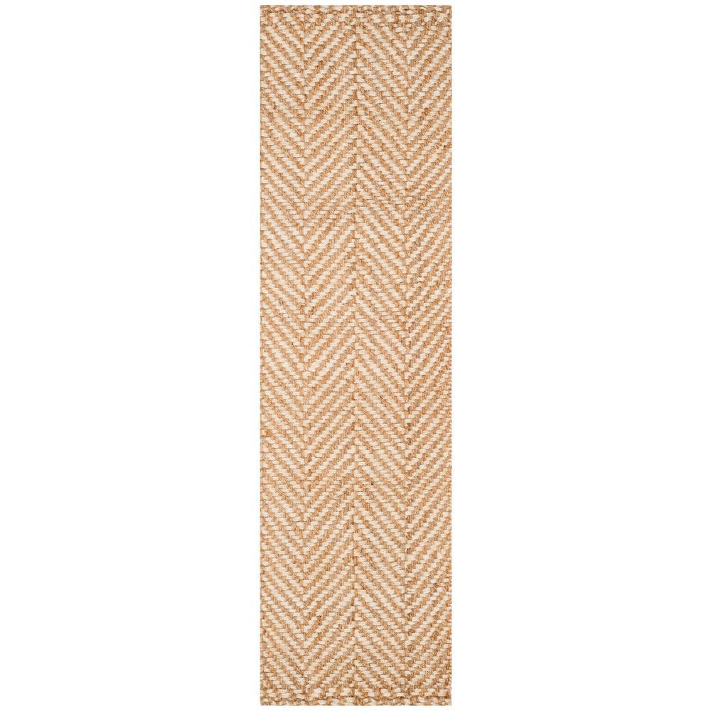 Safavieh Natural Fiber Ivory/Beige 2 ft. 3 in. x 10 ft. Runner Rug