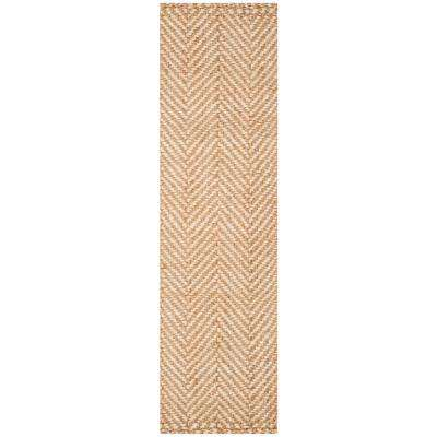 Natural Fiber Ivory/Beige 2 ft. 3 in. x 8 ft. Runner Rug