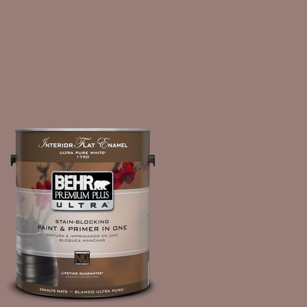 BEHR Premium Plus Ultra 1-Gal. #UL130-19 Cafe Ole Interior Flat Enamel Paint