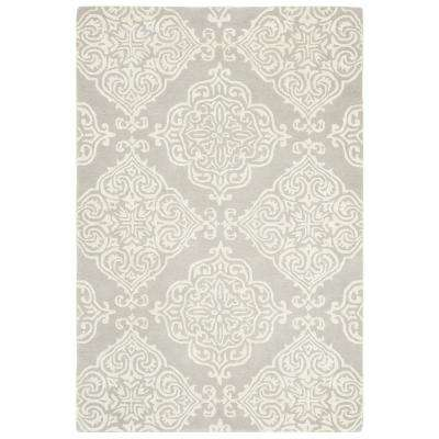 Glamour Silver/Ivory 4 ft. x 6 ft. Area Rug