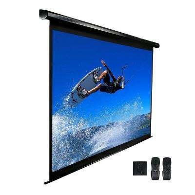 113 in. Electric Projection Screen with White Case