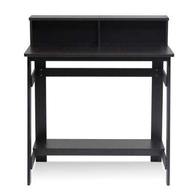32 in. Rectangular Espresso Computer Desk with Hutch