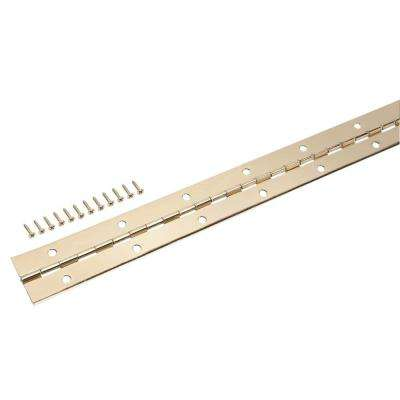 1-1/2 in. x 48 in. Bright Brass Continuous Hinge