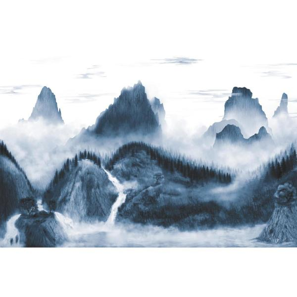 Roommates 15 Ft X 10 Ft Majestic Mountains Peel And Stick Wallpaper Rmk11517m The Home Depot