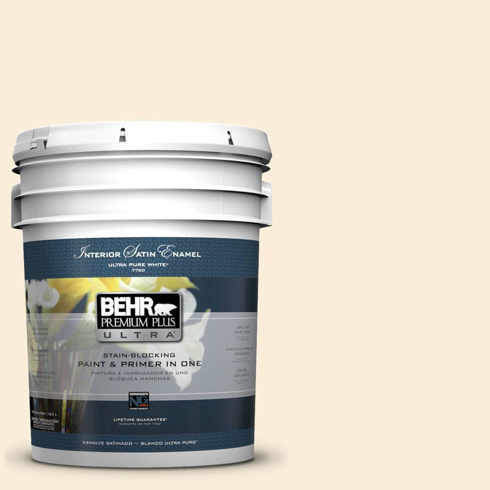 5-gal. #380E-1 Mist Yellow Satin Enamel Interior Paint