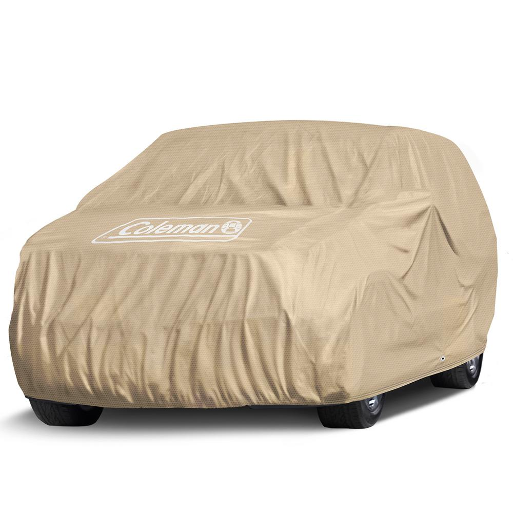 Coleman Spun-Bond PolyPro 135 GSM 225 in. x 80 in. x 63 in. Executive Beige Full Suv and Truck Cover