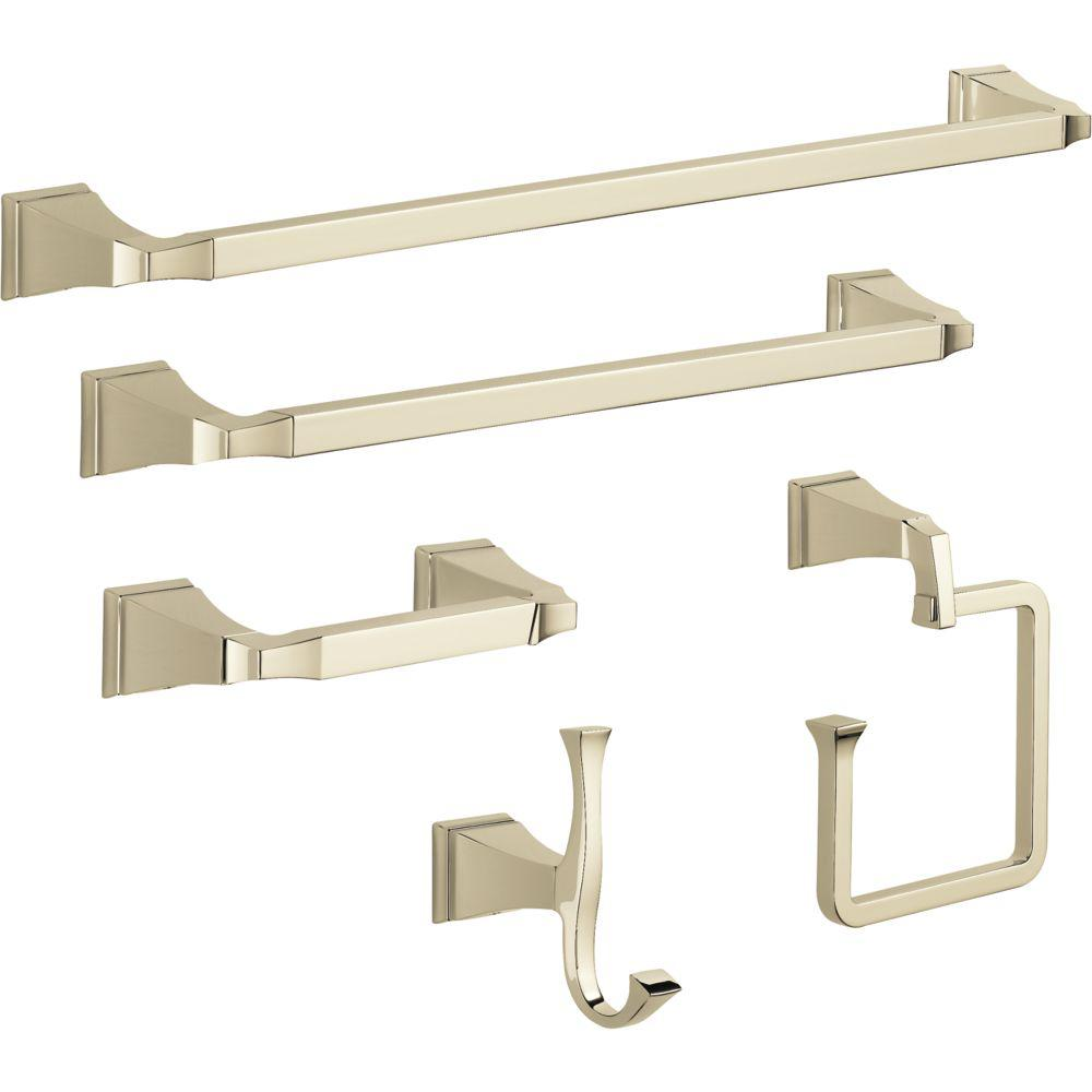Delta Dryden 5-Piece Bath Hardware Set in Polished Nickel
