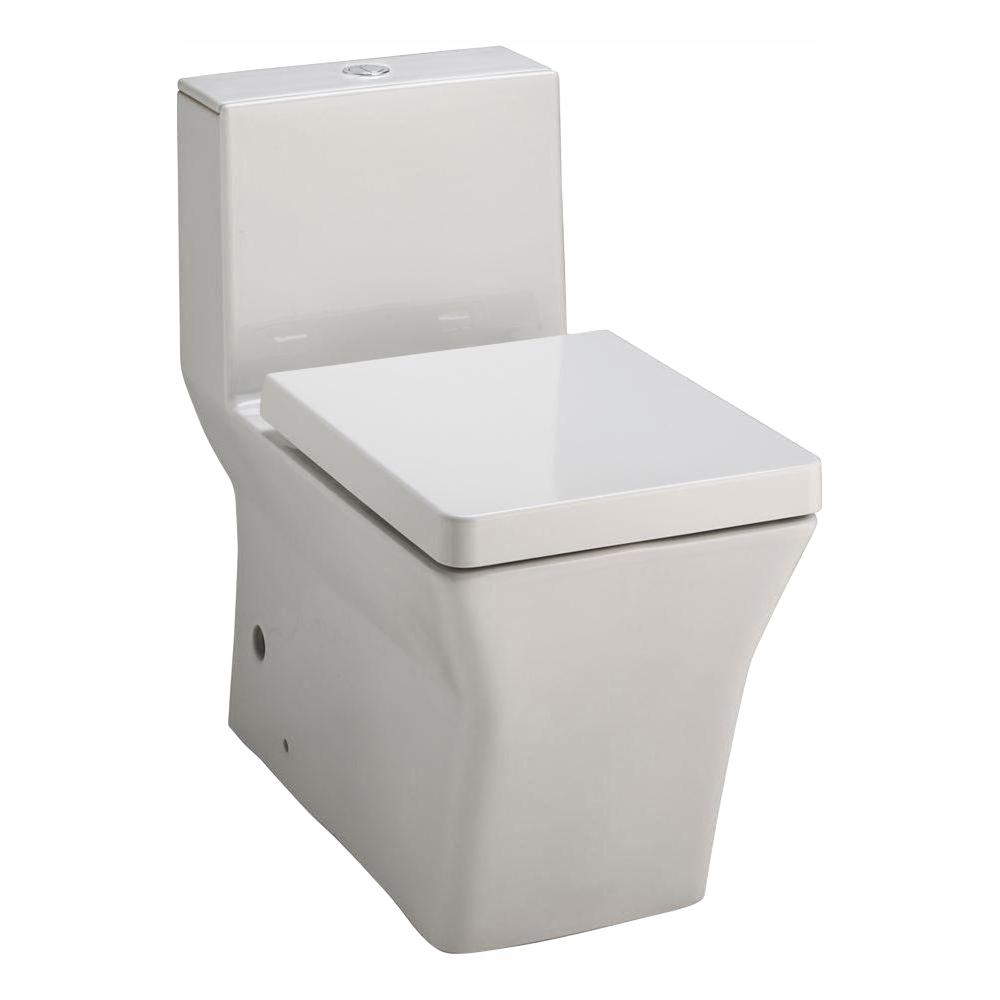 KOHLER Reve 1-piece 0.8 or 1.6 GPF Dual Flush Elongated Toilet in White, Seat Included
