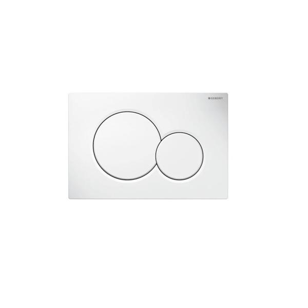 Dual-Flush Actuator Plate for Sigma Series In-Wall Toilet System in White