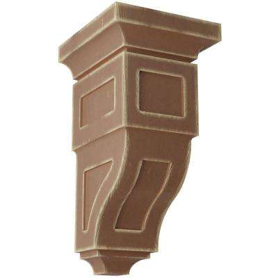 6 in. x 12 in. x 6-3/4 in. Weathered Brown Large Reyes Wood Vintage Decor Corbel