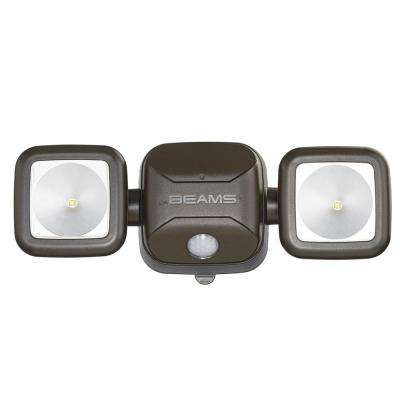 Outdoor 600 Lumen High Performance Battery Powered Motion Activated Integrated LED Security Light, Brown