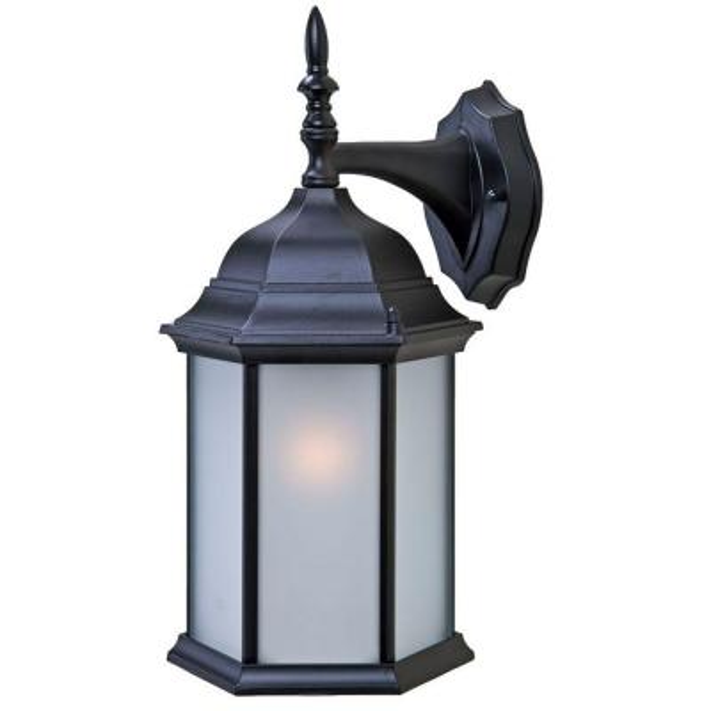 Craftsman 2 Collection 1-Light Outdoor Matte Black Wall Lantern Sconce