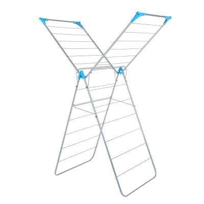 X Wing Indoor Drying Rack - Silver