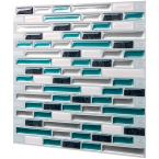 Tic Tac Tiles Como Bay 10 in. W x 10 in. H Peel and Stick Self-Adhesive Decorative Mosaic Wall Tile Backsplash (5-Tiles)