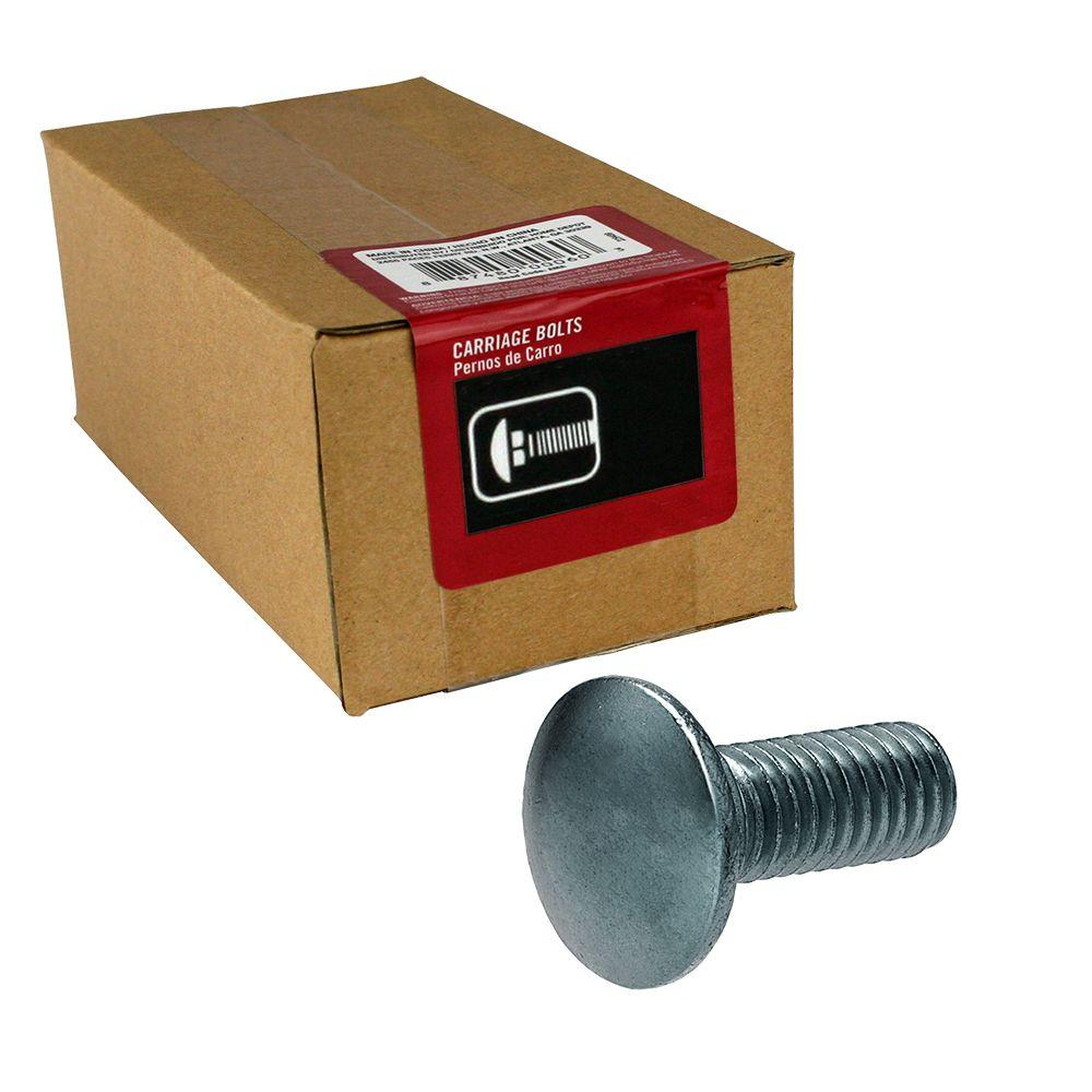 3/8 in. x 2 in. Stainless Steel Carriage Bolt (15-Pack)