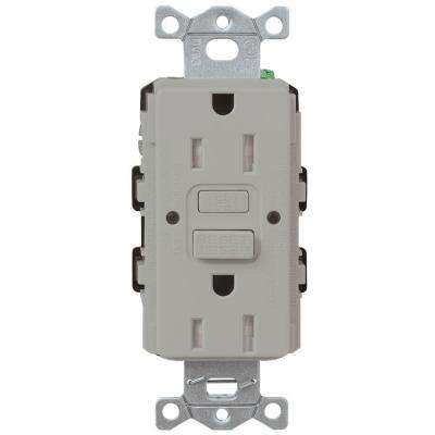 Gray Gfci Plastic Electrical Outlets Receptacles Wiring Devices Light Controls The Home Depot