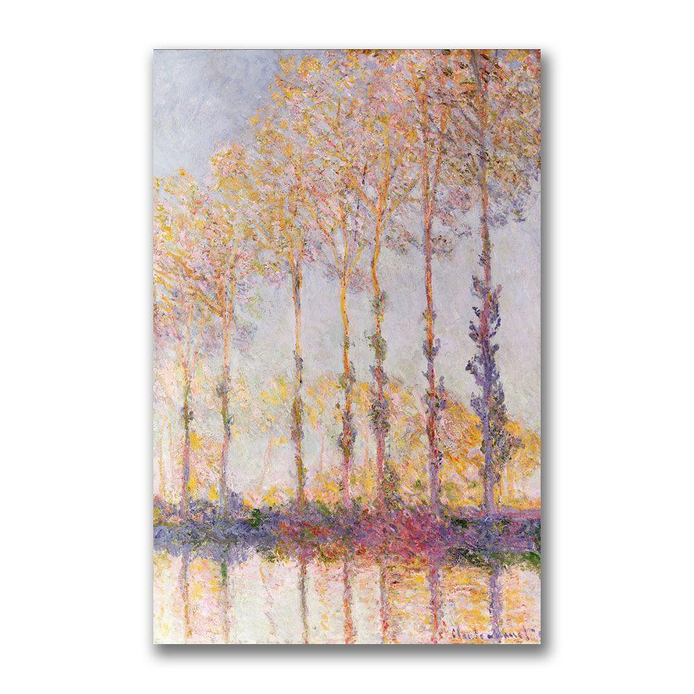Trademark Fine Art 22 in. x 32 in. Poplars on the Banks of the Epte Canvas Art