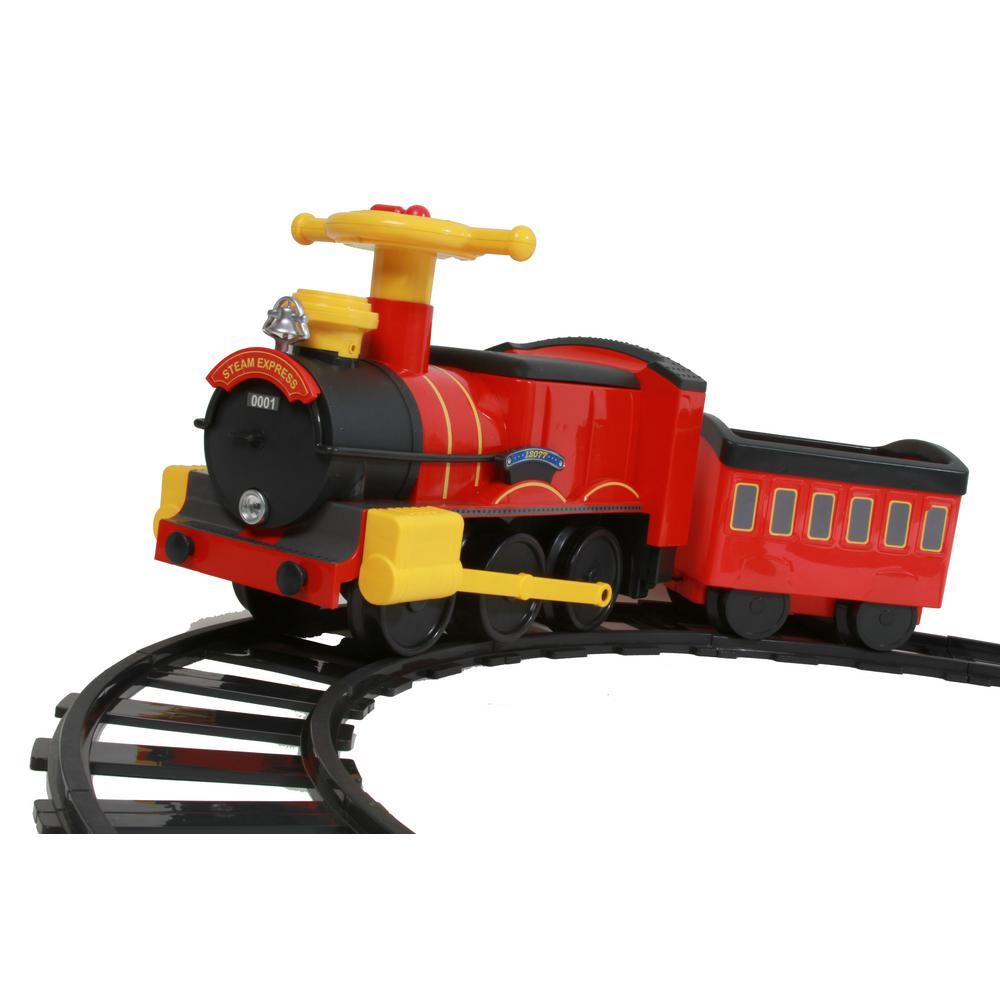 Rollplay Steam Train 6 Volt Battery Ride On Toy 7721ac The Home Depot