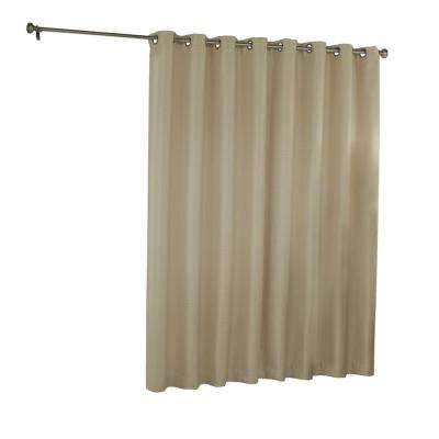 Bryson Blackout Patio Door Window Panel in Latte - 100 in. W x 84 in. L