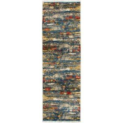 Ridgefield Multi/Blue 2 ft. 2 in. x 7 ft. 2 in. Indoor Runner