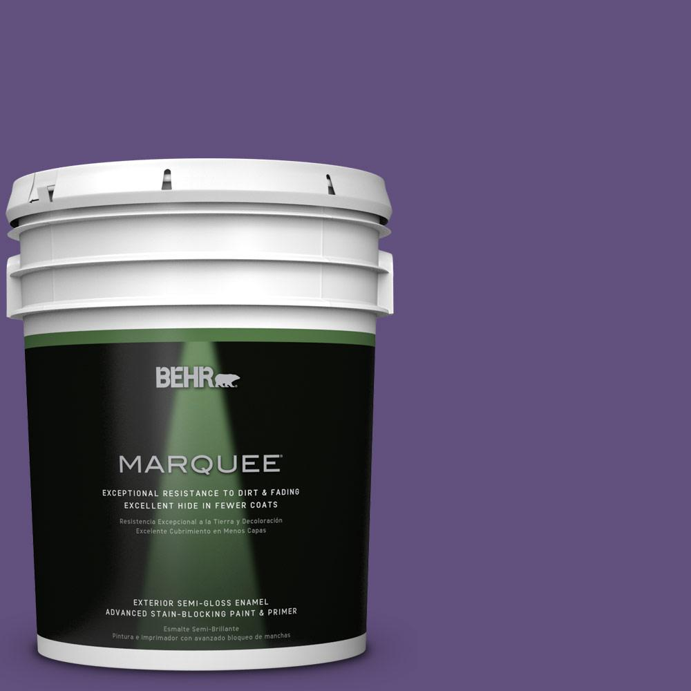 BEHR MARQUEE 5-gal. #S-G-650 Berry Syrup Semi-Gloss Enamel Exterior Paint
