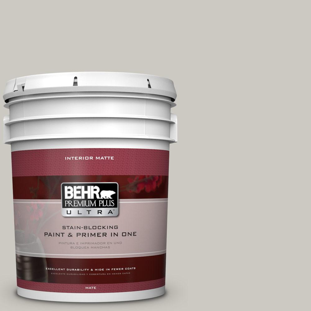 BEHR Premium Plus Ultra Home Decorators Collection 5 gal. #HDC-WR14-2 Winter Haze Flat/Matte Interior Paint