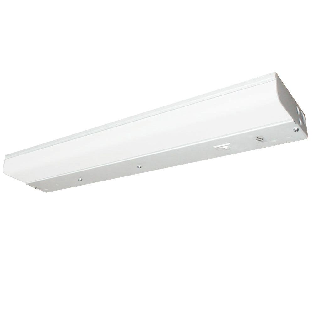 Fluorescent T8 1-Light 48 in. White Undercabinet Light