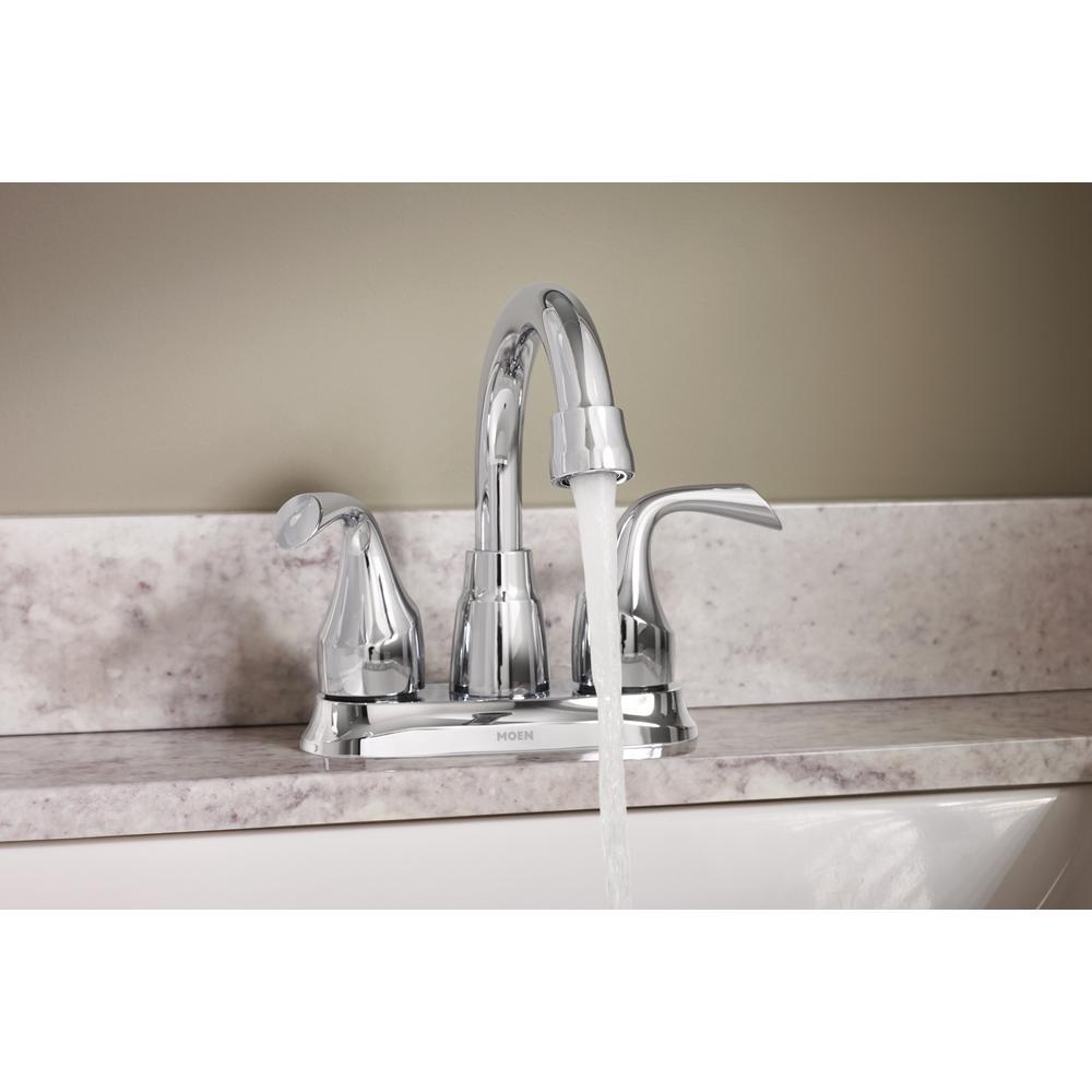 Centerset 2-Handle Bathroom Faucet in Chrome 84115 MOEN Idora 4 in