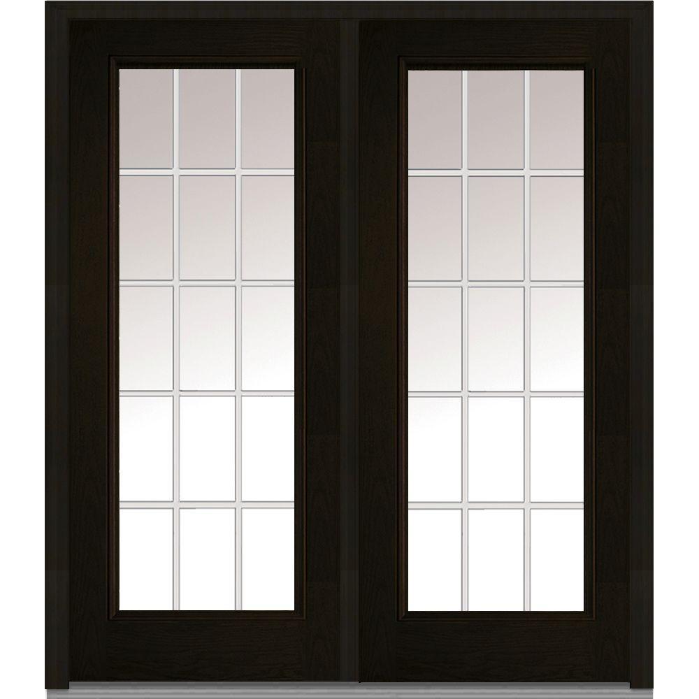 Mmi Door 64 In X 80 White Internal Grilles Left Hand Inswing