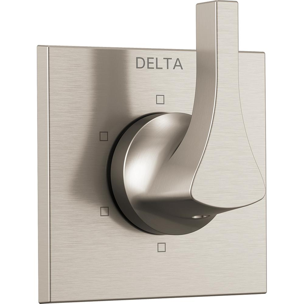 Delta Zura 1-Handle 6-Setting Diverter Valve Trim Kit in Stainless (Valve Not Included)