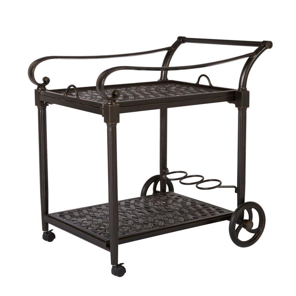 hampton bay edington serving trolley-131-012-cart