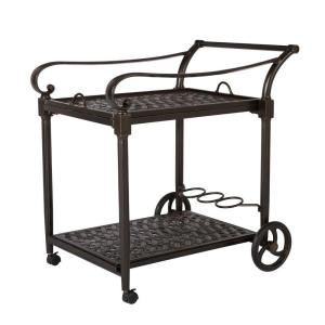 Hampton Bay Edington Serving Trolley 131 012 Cart The Home Depot