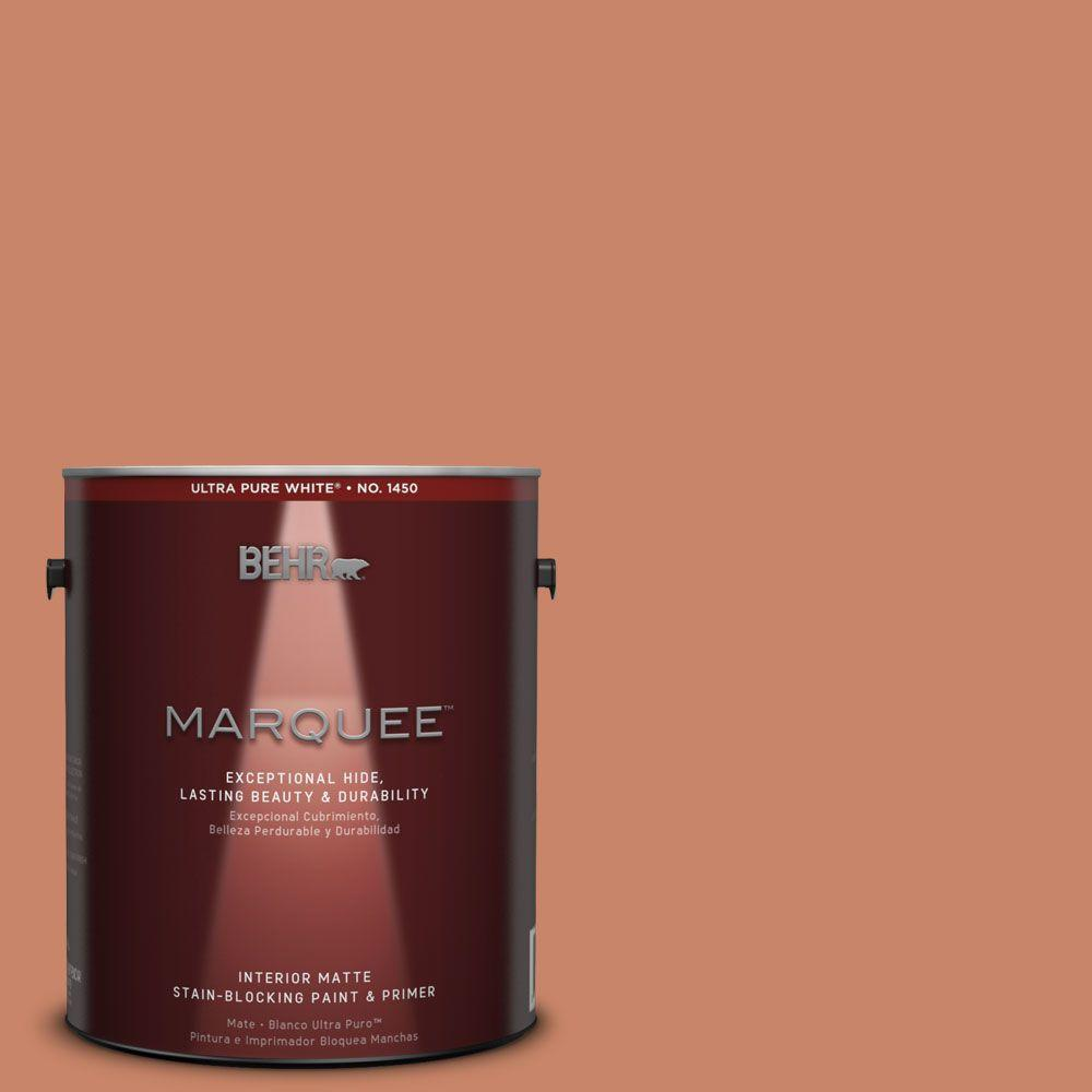 BEHR MARQUEE 1 gal. #MQ4-39 Cabana Melon One-Coat Hide Matte Interior Paint