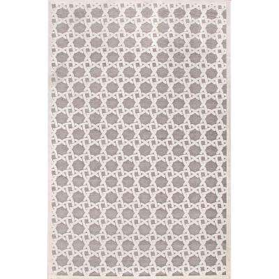 Machine Made Quarry 9 ft. x 12 ft. Trellis and Chain Area Rug